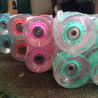 Skateboard Lights (60mm, 65mm) with bearings  LED Lights