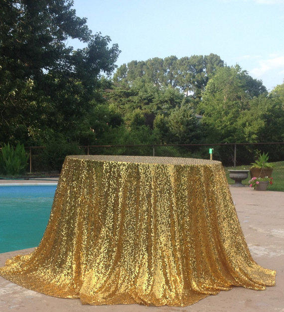 Gold Table Cloth Sparkle Glitter Sequin From Changesbyneci On