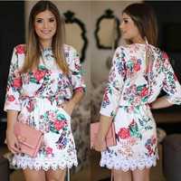 Floral Casual Female Dress