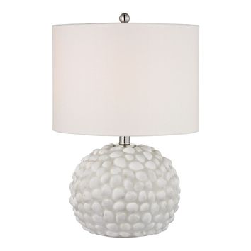 Southend Table Lamp In White Shell White Shell