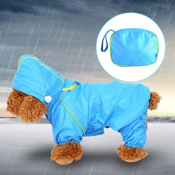 Portable Puppy Pet Dog Clothes Outdoor Waterproof Dog Raincoat Jacket Dog Coat for Pugs Husky Bull Dog lining S-XXL 3 Colors