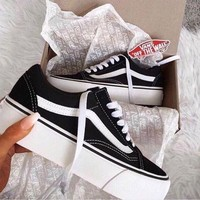 Gotopfashion Fashion Online Vans Old Skool Platform Black Sneaker Thick Shoe Sole I