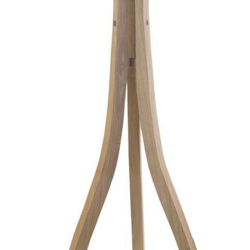 Duxbury Contemporary Floor Lamp Natural wood Beige