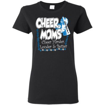 Cheer Mom Ladies Lightweight Form Fitting T-Shirt