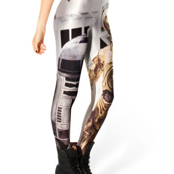 Shiny Milk Star Wars Leggings