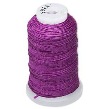 Simply Silk Beading Thread Cord Size FF Plum 0.015 Inch 0.38mm Spool 115 Yards for Stringing Weaving Knotting