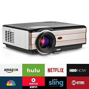 Video Projector Wireless 3500 Lumens, LCD Android WiFi Multimedia Home Theater