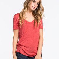 Full Tilt Essential Womens Tried & True Tee Chrysanthemum  In Sizes