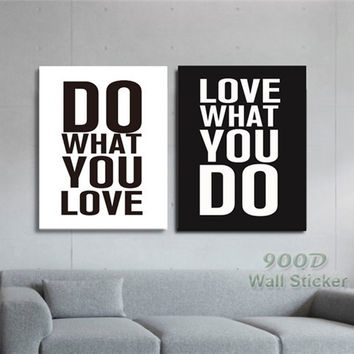 Quote Canvas Art Print Painting Poster, Wall Pictures For Home Decoration Print On Canvas,  set of 2