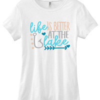 Life is better at the lake graphic t-shirt funny ladies girls women tee tumblr instagram gift girls
