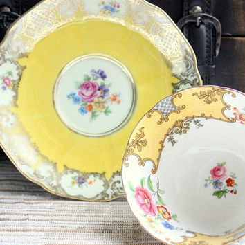 Mismatched Cup And Saucer // Tea Set // Tea Party // China Collection
