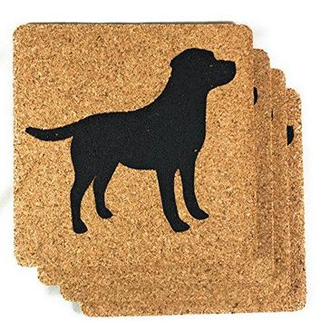 Dachshund Weiner Dog Gift Cork Drink Coasters Set   Basic Design Wiener Dog Decor   Perfect Decoration for Doxie Lovers