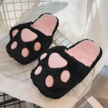 Cute Slippers Bear Paw