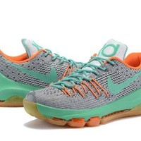 PEAPON3A VAWA Nike Men's Durant Zoom KD 8 Flyline Basketball Shoes Grey Green
