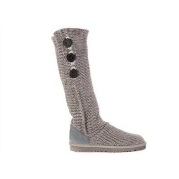 Ugg Boots Cyber Monday Knit Classic Cardy 5819 Grey For Women 81 14
