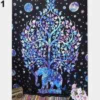 Bohemian Hippie Elephant Printed Tapestry Wall Hanging Decoration Beach Mat