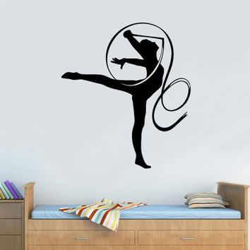 Wall  Decal Vinyl Sticker  Decor Art Bedroom Design Mural Nursery Kids Baby Ballet Ballerina Gymnastics Gym Dancer Butterfly (z3144)