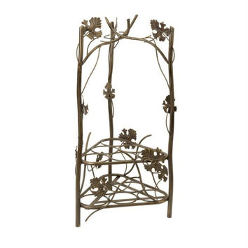 Wine Rack - Leaf Accents