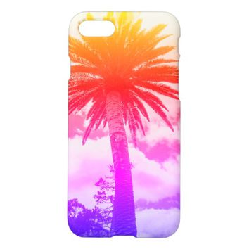 Funky Rainbow Colors Palm Tree IPhone 8/7 Case