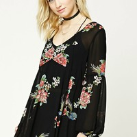 Contemporary Rose Print Tunic