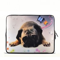"Puggy Dog 7"" 7.2"" 7.7"" 7.9"" 8"" inch Touch Screen Tablet Case Sleeve Pouch Bag for Apple iPad mini Retina Display/Apple iPad Mini 2/ASUS MeMO Pad/Google Nexus 7/iView TV Pad/SupraPad/Acer Iconia One/LG G Pad/Ematic Touchscreen Tablet/HP Stream 7 /SAMSUNG Ga"