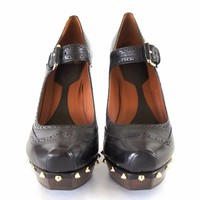Alexander Mcqueen MCQ Studded Mary Jane Pumps Size 41 New Box Dust Bag