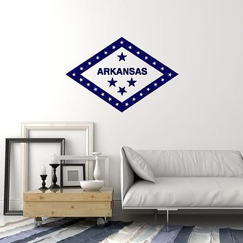Vinyl Wall Decal Arkansas Flag USA State Patriotic Decoration Room Art Stickers Mural (ig5957)