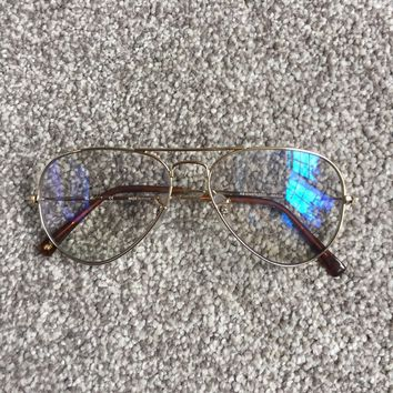 Ray Ban Clear Aviator Glasses