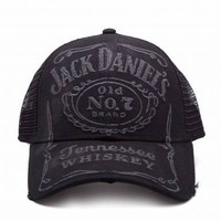 Official Jack Daniel's Whiskey Label Trucker Baseball Cap
