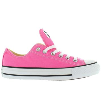 converse all star chuck taylor lo pink canvas low top sneaker