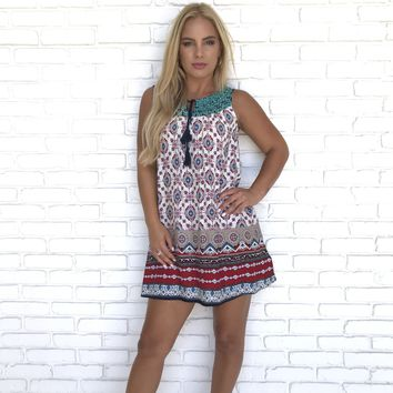 Shifting Places Print Dress