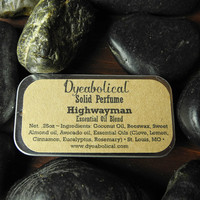 Highwayman Solid Perfume - an all-natural intoxicating essential oil fragrance