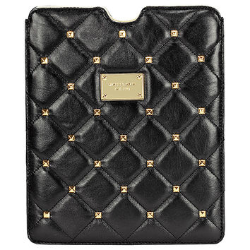 Michael Kors Quilted Studs iPad Case in Black