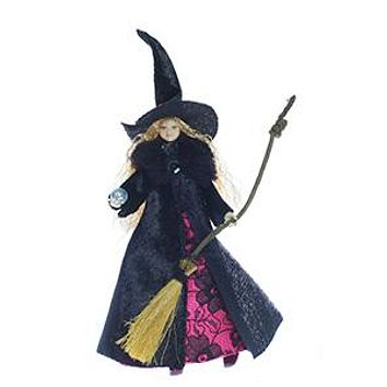 Tassie Designs Doll Pink Witch, Non- Magnetic