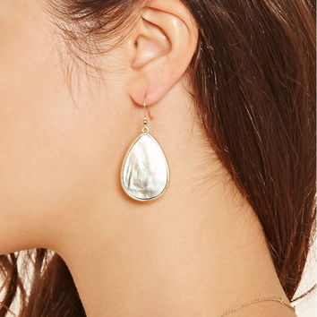 Pearlescent Drop Earrings | Forever 21 - 1000203590