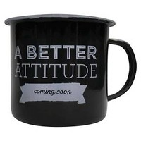 Enamel Mug A Better Attitude Coming Soon : Target