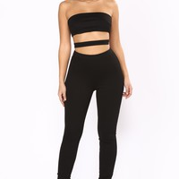 In The Clear Cutout Jumpsuit - Black