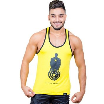 5-pack Men Stringer Tank Top Sleeveless Casual Fashion Tanks Cotton Men Active Singlets Gasp Fitness Top Tees