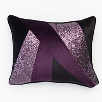 Jennifer Lopez bedding collection Marquee Velvet Sequin Throw Pillow