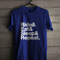 Ride Eat Sleep Repeat Bike For Man And Woman Shirt / Tshirt / Custom Shirt