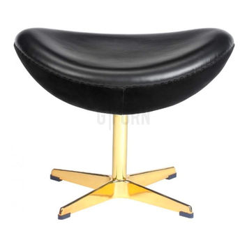Reproduction of Arne Jacobsen's Golden Egg Chair 50th Anniversary Ottoman | GFURN