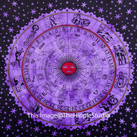 Astrology Tapestry, Hippie Tapestries, Bohemian Tapestries, Indian Bed Cover, Boho Wall Hanging, Wall Tapestries, Tapestry Throw, Dorm Decor
