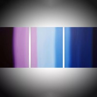 """ARTFINDER: triptych 3 panel wall art colorful images """"Purple Haze"""" 3 panel canvas wall abstract canvas pop abstraction 48 x 20 """" other sizes available by Stuart Wright - """"Purple Haze""""  3 piece canvas art On 3 canva..."""
