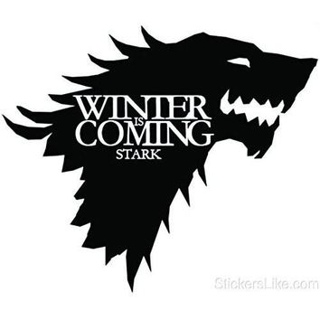 Game of Thrones House Baratheon Stark vinyl Sticker decal HBO Winter is Coming