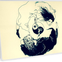 'YinYang ' Laptop Skin by Shanillustrate