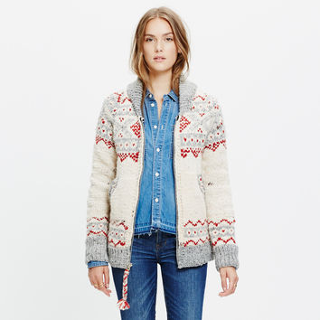 Chamula™ Fair Isle Cardigan Sweater