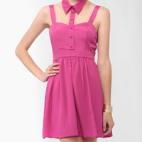 Cutout Collar Dress