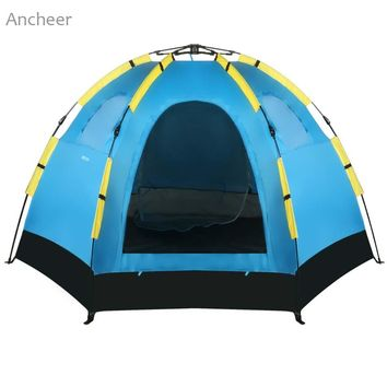 5-8 Person Waterproof Polyester Automatic Dome Tent