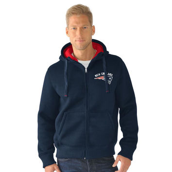 NFL New England Patriots Full Zip Sherpa Jacket - X-Large