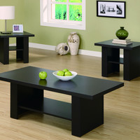 Cappuccino Hollow-Core 3 Piece Occasional Table Set